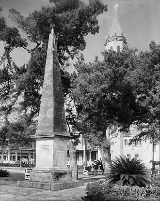 George J. F. Clarke - Constitution of 1812 monument in St. Augustine