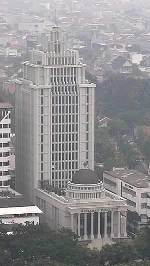 Constitutional Court of Indonesia - Aerial view of the Constitutional Court building