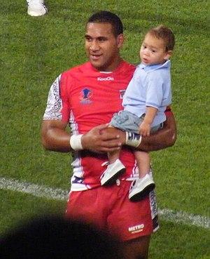 Cooper Vuna - Vuna while playing for Tonga at the 2008 RLWC