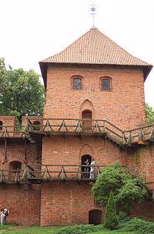 Turm in Frauenburg, den Kopernikus mehrere Jahrzehnte bis zu seinem Tode 1543 besaß. (Quelle: Wikimedia)