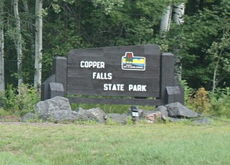 Copper Falls State Park - Image: Copper Falls State Park Sign
