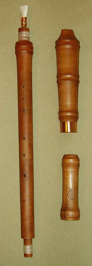 Cornamuse - Alto Cornamuse in F, made of pear wood (Reconstruction by Dominik Bauer, Saarbrücken)