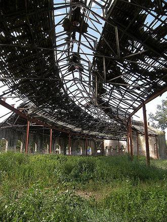 Corral de Bustos - Abandoned train warehouse in Corral.