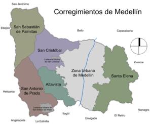 Corregimientos de Medellin