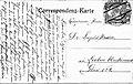 Correspondenz Karte 01.09.1911 an Dr. Leopold Maurer, Leoben, Steiermark.jpg