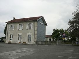 The railway station in Avoudrey