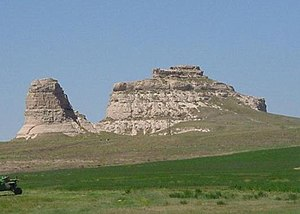 Landmarks of the Nebraska Territory - Courthouse and Jail Rocks