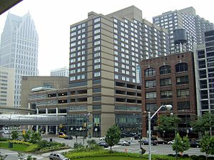 Ally Detroit Center - Image: Courtyard by Marriott Downtown Detroit