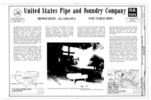 Cover - United States Pipe and Foundry Company Plant, 2023 St. Louis Avenue at I-20-59, Bessemer, Jefferson County, AL HAER ALA,37-BES,6- (sheet 1 of 16).png