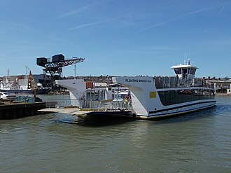 Cowes Floating Bridge - Cowes Floating Bridge (or Chain Ferry). Floating Bridge No 6, pictured, was first brought into service in May 2017.