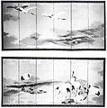 Cranes and Waves by Shibata Zeshin, six-fold screens.jpg