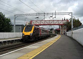 Stone railway station - Image: Cross Country unit 220030 at Stone railway station
