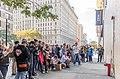 "Crowd gathered at ""Hammer Boy"" Banksy in Upper West Side October 2013.jpg"