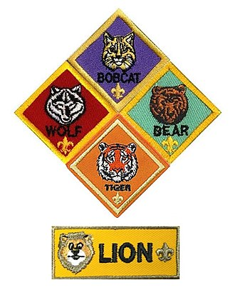 Cub Scouting (Boy Scouts of America) - Image: Cub Scout ranks (Boy Scouts of America) 2018
