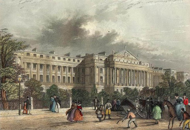 Cumberland Terrace J.Woods from a picture by Salmon & Garland publ 1837 edited