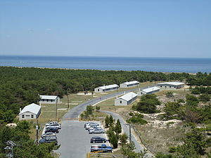 Fort Miles - Current view of Fort Miles from the historic Tower 7, which was one of the many fire control towers that were made during WWII to spot enemy ships approaching the coast.