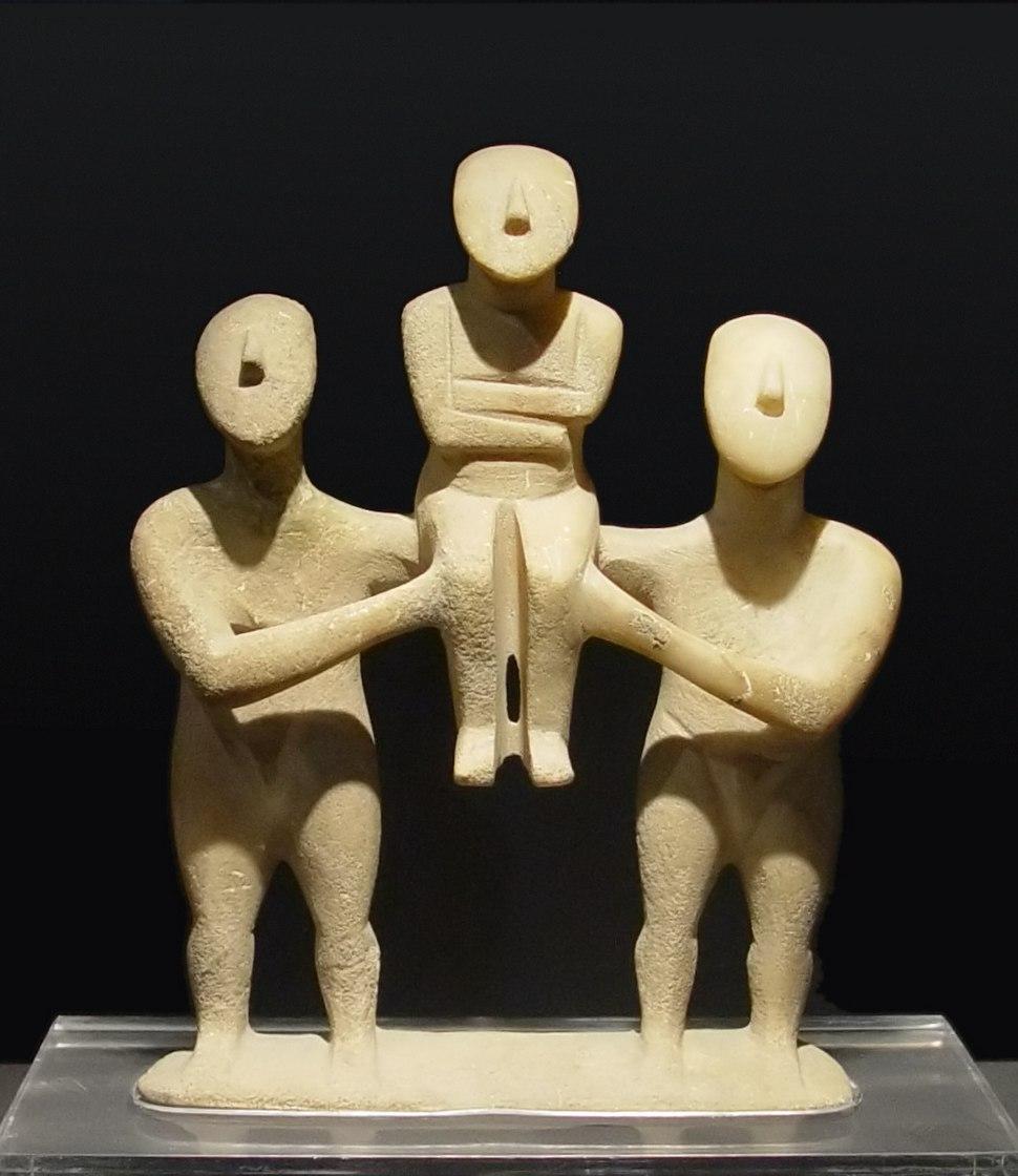 Cycladic three figurines group