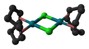 Rhodium(III) chloride - Structure of the cyclooctadiene rhodium chloride dimer