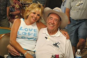 Cyndy Violette - Violette with Doyle Brunson in 2005.