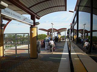 Inwood/Love Field station DART light rail station in Dallas, Texas