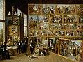 DAVID TENIERS EL JOVEN - El Archiduque Leopoldo Guillermo en su Galería de Bruselas (Kunsthistorisches Museum de Viena, 1650-52. Óleo sobre lienzo, 123 x 163 cm).jpg
