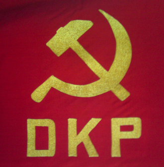 Communist Party of Denmark - Image: DKP flag