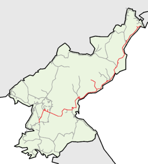 Pyongra Line railway line in North Korea