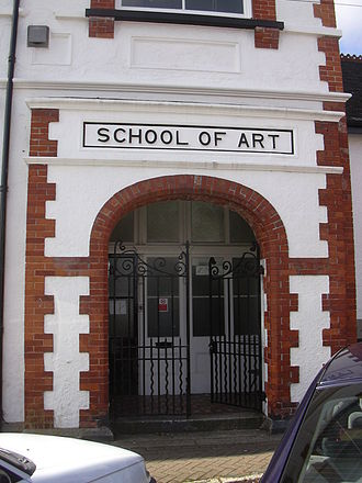 Falmouth University - Entrance to the original Falmouth School of Art building in Arwenack Avenue