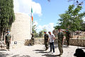 Damien Duff and his brother Sergeant Gerry Duff visit the troops of the Irish 106 Battalion in Tibnine Lebanon (7514361526).jpg