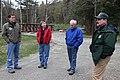 Dan Ashe, Jan Rowan Northeast Fish Passage Coordinator, Town Selectman Larry Strauss and Steve Roy from the US Forest Service (6978370052).jpg