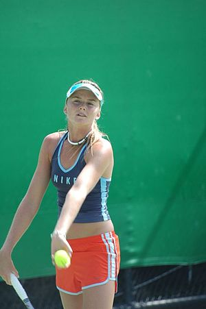 Daniela Hantuchová - Hantuchová practicing during the Australian Open in 2005