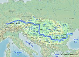 Map of Danube River