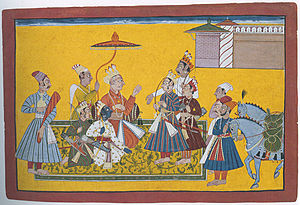 Shatrughna - Bharata and Shatrughna leave for Kaikeya, taking leave from Dasharatha, Rama and Lakshmana