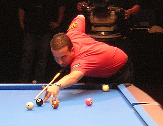 Pool (cue sports) - Pro player David Alcaide at the World Pool Masters 2007