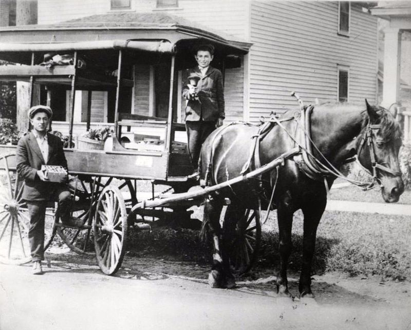 David and Harry Silverman in their fruit peddling cart, St. Paul (4418714855).jpg