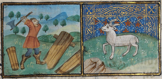 March- cutting wood; Aries
