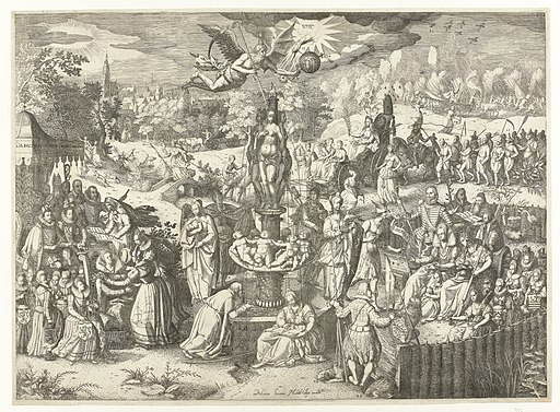 De voorspoed die de vrede de Nederlanden brengen zal, 1608 Waere uytbeelding klaer eenes oprechten vrede Die wel te wenschen waer in elck Landt en stede, RP-P-OB-80.746A