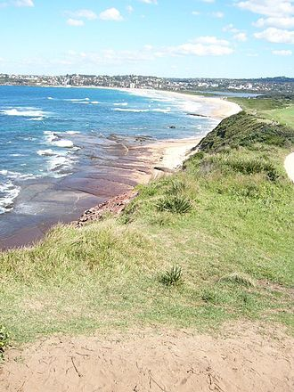 Dee Why - Dee Why Beach and Dee Why Lagoon, view from Long Reef