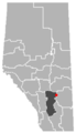 Delia, Alberta Location.png