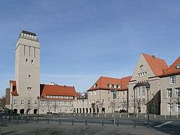 Wasserturm und Rathaus in Delmenhorst
