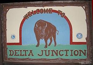 Delta Junction, Alaska - Image: Delta Junction welcome sign
