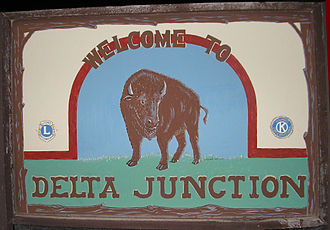 Delta Junction, Alaska - Image: Delta Junction welcome sign