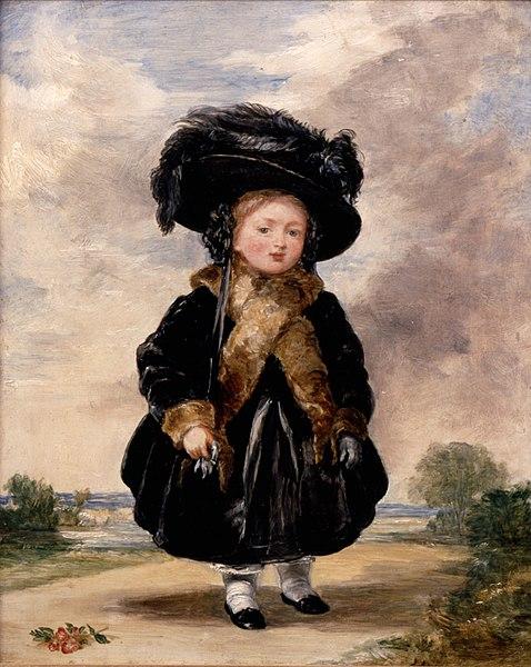 Retrato de la reina Victoria I, a la edad de 4 años.
