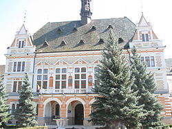 The Hunedoara County Prefecture building of the interwar period, currently serving the same function.