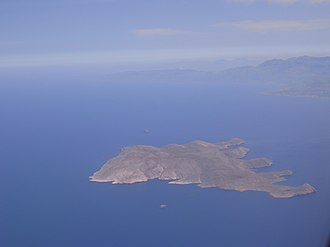 Glaronisi - The islet of Glaronisi and the larger island Dia