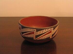 Diaguita - Replica of a Diaguita ceramic bowl from northern Chile.