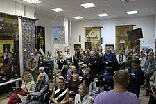 Dialogue epochs. Interpretations - Exhibition 5.09.2014 Minsk 04.JPG