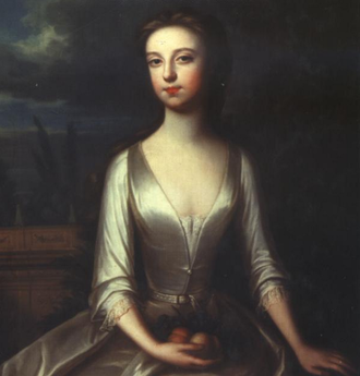 Diana Russell, Duchess of Bedford - Portrait of Lady Diana painted by Charles Jervas while she lived in Blenheim Palace