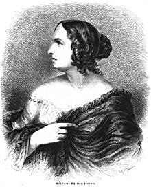 Wilhelmine Schröder-Devrient, in: Die Gartenlaube, 1860, Heft 22, S. 342–344. (Quelle: Wikimedia)