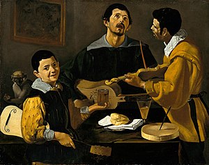 The Three Musicians (painting) - Image: Diego Velázquez The Three Musicians Google Art Project